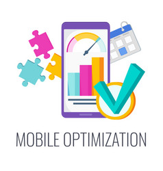 Mobile optimization configuring site content for vector