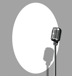 Musical event microphone poster vector