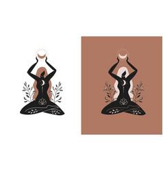 mystic women exotic woman feminine concept vector image