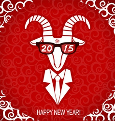New year goat wear in business suit and glasses vector