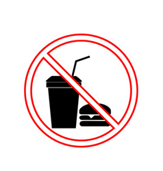 No food and drink sign silhouette hamburger in vector
