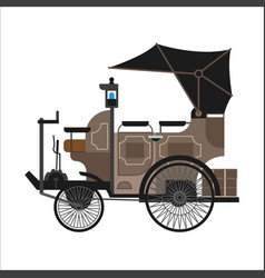 old car or vintage retro collector automobile vector image