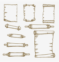 Old scrolls engraving vector