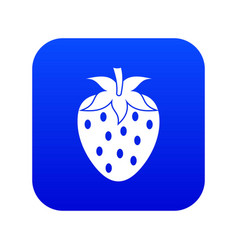 one strawberry berry icon digital blue vector image