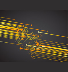 orange arrows on dark background vector image