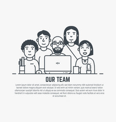 Our team template vector