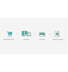outline checkout icons vector image
