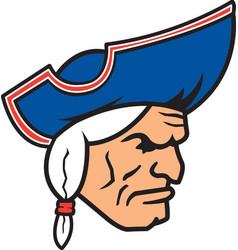 Patriot head logo mascot vector