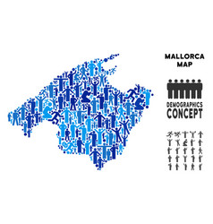 People spain mallorca island map vector