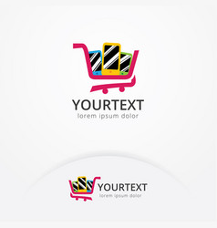 phone shop logo design vector image