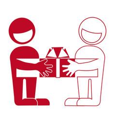 Presentation of gifts greetings reward help vector