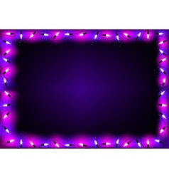 Purple Christmas Lights Background vector image