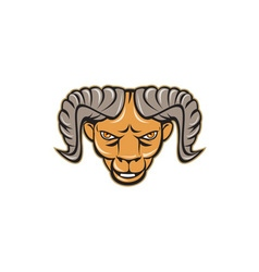Ram Head Isolated Cartoon vector