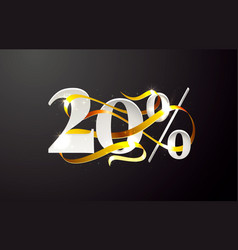 Ribbon off 20 sale discount limited offer vector