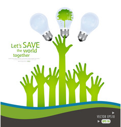 Save the world Background vector image