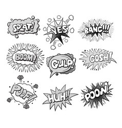 Set of pop art style comic exclamations vector