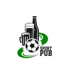 Sport beer pub isolated icon vector