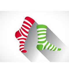 Stripped socks vector