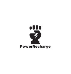 symbol logo hand fist strong power clear flat vector image