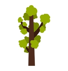 Tall tree icon flat style vector image