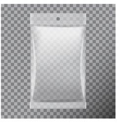transparent foil bag packaging for food snack vector image