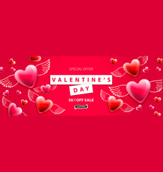valentines day sale background romantic vector image