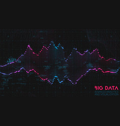 violet abstract binary wave 3d big data vector image