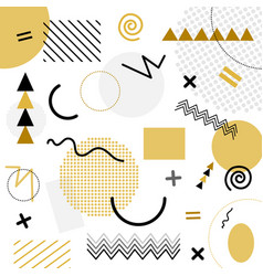 white and gold abstract geometric chaotic pattern vector image vector image