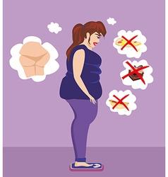 Woman Worried Over Her Weight vector