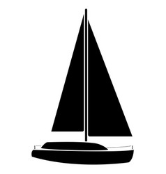 yacht the black color icon vector image