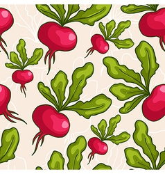 cute seamless hand drawn radish background vector image