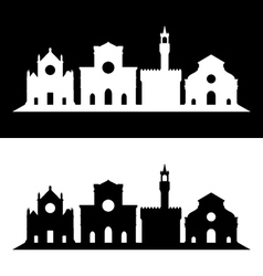 florence skyline vector image vector image