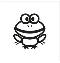 frog icon for book educational game for kids vector image vector image