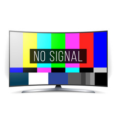 no signal tv test lcd monitor flat screen vector image vector image