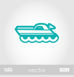 ship boat outline icon summer vacation vector image vector image