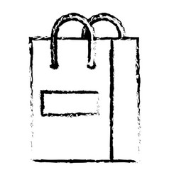 shopping bag paper isolated icon vector image