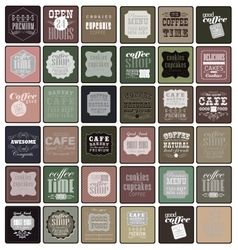 Coffee labels and elements vector image vector image