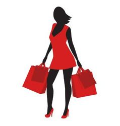 Silhouette of shopping vector image vector image