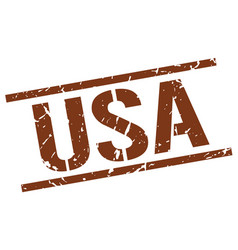 Usa brown square stamp vector