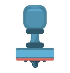 cartoon blue rubber stamping supplies vector image