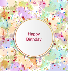 Confetti Card for Happy Birthday vector image vector image