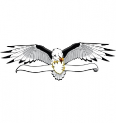 eagle with banner vector image vector image