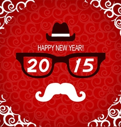 New year hipster greeting card vector image