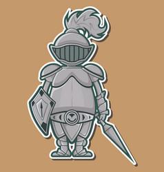 04 Cute Knight Design vector image