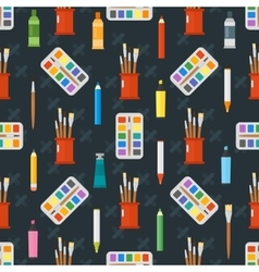 Art tools seamless pattern ector vector image vector image