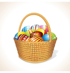 Basket with Eggs vector image vector image
