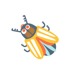 cartoon colorado potato beetle colorful character vector image
