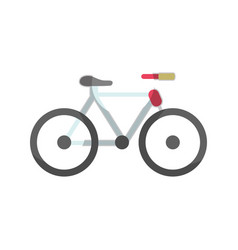 cute bicycle to do exercise vector image