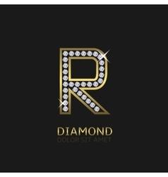 Golden Letter R vector image