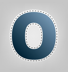 letter o sign design template element vector image vector image